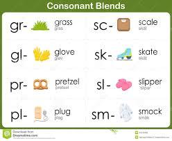 consonant blends worksheet for kids illustration 45519480 megapixl