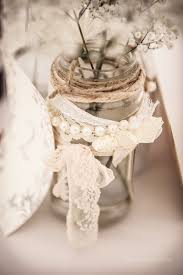 jar table decorations jam jar table decorations vintage lace and pearls photography