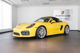 yellow porsche boxster 2016 porsche boxster spyder for sale in colorado springs co p2808
