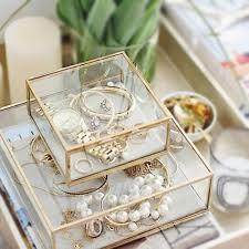 jewellery box necklace storage images Usd 20 37 glass jewelry box eternal flower box european jewelry jpg