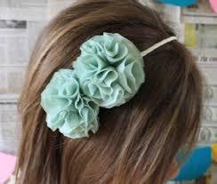 mint green headband mint green flower headband