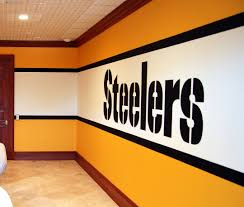 Gym Wall Murals Pittsburgh Steelers 1970 S Locker Room Mural By Tom Taylor Of Wow
