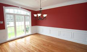painted rooms pictures red dining room paint white trim tile flooring and room