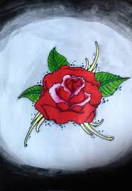 simple rose tattoo design idea by luxakari on deviantart