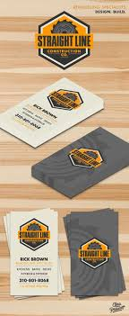 business cards milwaukee line construction company is a retro vintage logo