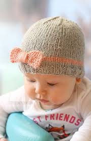bow baby hat knitting pattern window