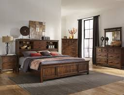 intercon furniture wolf creek 4 piece bookcase bedroom set in