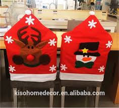 snowman chair covers european high quality half stereo christmas snowman santa elk