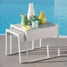 Modern Outdoor Furniture  Accessories YLiving - Designer outdoor tables