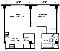 Single Bedroom Apartment Floor Plans Pictures Of One Bedroom Floorplans Under 450 Square Feet