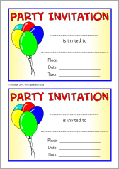 party invitations party invitation templates sb3552 sparklebox