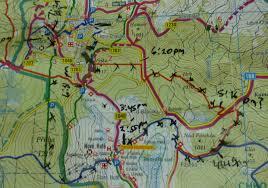 Bohemia Map Hiking South Bohemia šumava National Forest Anthony Hennen