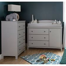south shore cotton candy changing table with drawers soft gray south shore cotton candy changing table and 4 drawer chest wall s