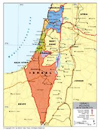 political map of israel political map of israel with provincial state boundaries by