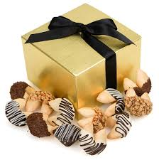 cookie gift boxes classic dipped gourmet fortune cookies gift box of 12