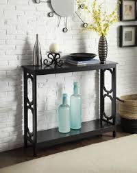 convenience concepts console table fingerhut convenience concepts tucson deluxe 2 tier console table