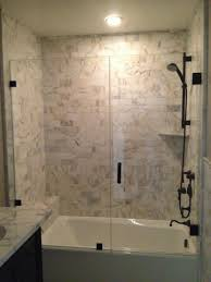 Tub With Shower Doors Removing A Tub The Homeowner Wanted To Update The Master An