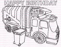 garbage truck coloring printable mike loved coloring