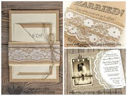 burlap and lace wedding invitations burlap and lace wedding decorations the king and prince