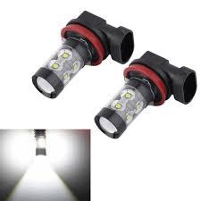 Led Car Lights Bulbs by Aliexpress Com Buy 2x H8 H11 50w 6000k Chips Led Car Fog Light
