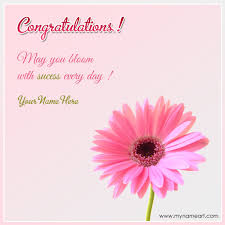 Wedding Wishes Online Editing Congratulations On Success With Quotes And Name Wishes Greeting Card