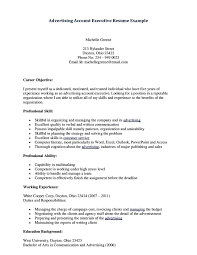 Online Resume Submit by Resume Senior Account Executive Advertising Professional Resumes