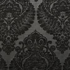 Black And Cream Damask Curtains Heavy Weight Velvet Floral Chenille Damask Dfs Cushion Upholstery