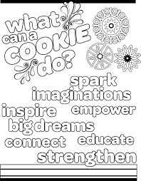 scout cookies coloring pages girlscoutbrowniecoloringpages