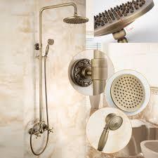 popular brass shower fixtures buy cheap brass shower fixtures lots dofaso antique aspersed european cold and hot bath full shower faucet bronze ancient faucet brass shower