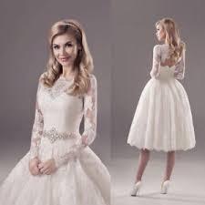 wedding dress ebay tea length vintage lace wedding dress 2018 sleeves white