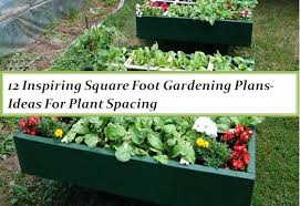Garden Pictures Ideas 12 Inspiring Square Foot Gardening Plans Ideas For Plant Spacing