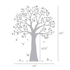 narrow family tree decal two colors wall decals narrow family tree wall decal