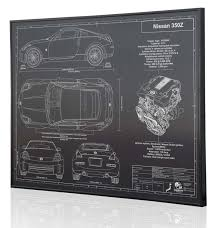 nissan 350z skin from polis nissan 350z laser engraved wall art poster engraved on metal