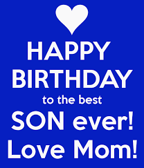 Happy Fourth Birthday Quotes Happy Birthday To The Best Son Ever Love Mom Poster Suz