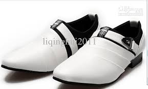 wedding shoes for groom new styling buckle white pu leather dress shoes men s casual shoes