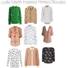 printed blouse lydia martin inspired printed blouses polyvore