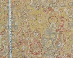 Arts And Crafts Rug Vintage Arts And Crafts Rug Fabric Yellow Orange Craftsman Asian
