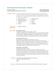Reference Examples For Resume by Cover Letter For Teachers Assistant With No Experience
