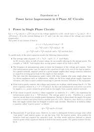 power factor improvement in phase ac circuits single electrical