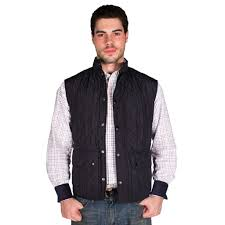 sweater vests mens barbour lowerdale quilted gilet in navy country prep