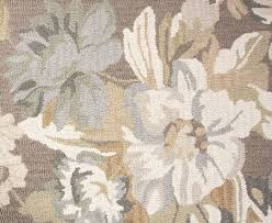 Flower Area Rug New Contemporary Handmade Wool 8x10 Large Flower Area Rug Carpet Brown