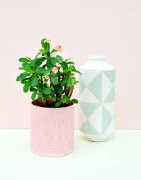 Mint Green Vase Ceramic Mint Geo Vase