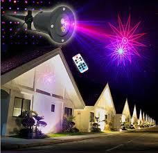 Outdoor Laser Lights Ip68 Waterproof Lights 8in1 Blue Moving Twinkle