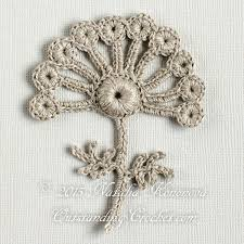 lace home decor irish crochet applique pattern looming flower with leaf