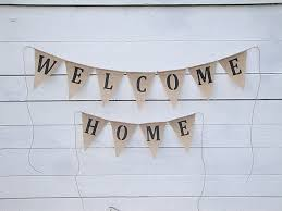welcome home interiors welcome home burlap banner home decor