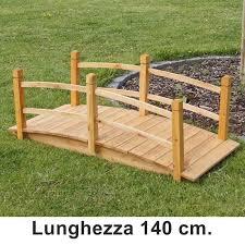 ringhiera in legno per giardino ponticello in legno per laghetto artificiale giardino da 140 cm