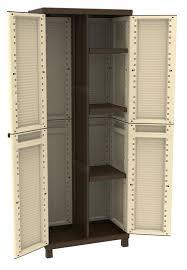 armadietto da balcone armadio in resina terry 2 ante portascope 68x181x39 cm lxhxp