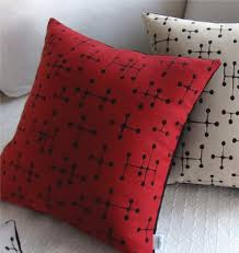 Decorative Pillows Modern Eames Dot Mid Century Modern Throw Pillow Cover By Atomiclivinhome
