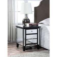 nightstand appealing white simple design laminated wooden floor