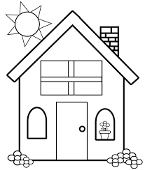 dog house coloring pages colouring template house best 10 kindergarten coloring pages